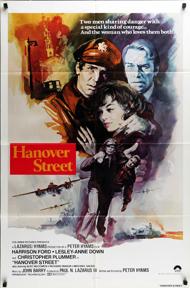 Hanover Street Harrison Ford movie poster print
