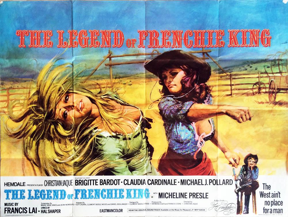 Les petroleuses Brigitte Bardot vintage movie poster